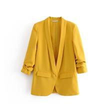 2020 new women elegant crimping three quarter sleeve casual