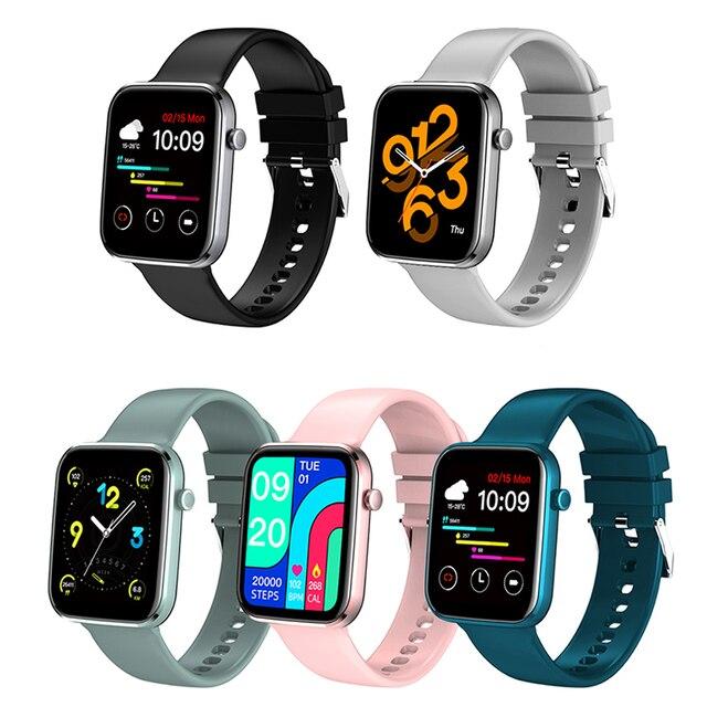 男性と女性のためのスマートウォッチ,血圧と心拍数を制御するスマートスポーツウォッチ,Android,iOS,2021