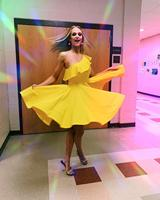 Yellow One Shoulder Prom Dress A Line Short Cocktail Dresses for Homecoming Party
