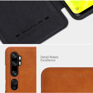 Image 4 - Caes for Xiaomi Mi Note 10/10 Pro/CC9 Pro Nillkin Qin Series PU Leather Flip Cover For Xiaomi Mi Note 10 Case