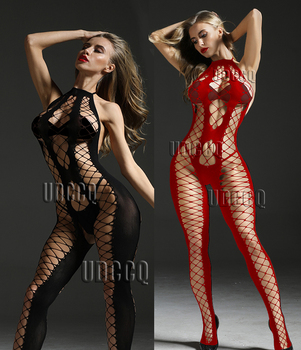 sexy underwear women erotic Bodystockings plus size lingerie Babydoll dress Underwear Translucent Chemises Bodysuits Garter Q161 - discount item  10% OFF Exotic Apparel