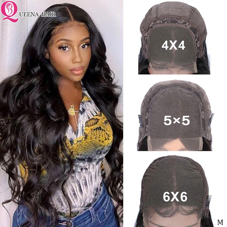 6x6 Lace Closure Wigs Body Wave Human Hair Wig Brazilian 4x4/5x5 Glueless Transaprent Lace Front Wigs For Black Women Remy Hair