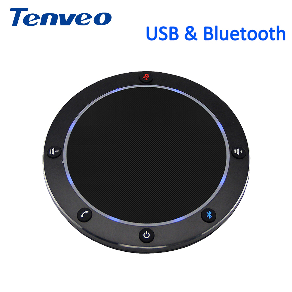 Tenveo NA100B Bluetooth USB Conference Speakerphone For VoIP Softphones Via PC And Mobile Phone Music Speaker
