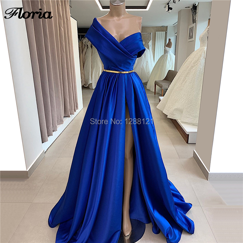 Evening     Dresses   Simple Saudi Arabic New 2019 Women Stain Prom   Dress   Vestido De Soiree Custom Made Off the Shoulder Party Gowns