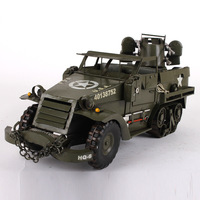 48X17X20cm Handmade Metal Armored Vehicle Military Diecasts Car Toys Vehicle Auto Speedwheels Model Toys for Children Adults