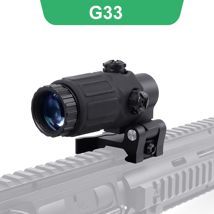 Sight G33 Airsoft 3X Magnifier With Switch to Side Quick Detachable QD Mount For Hunting Black Apply 552 553 <font><b>558</b></font> 551 Red dot image
