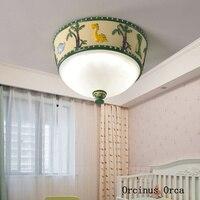 Creative צבע ציור דינוזאור תקרת מנורת ילד חדר שינה מנורת חדר ילדים cartoon צבע LED צבע שרף תקרת מנורה|תאורת תקרה|   -