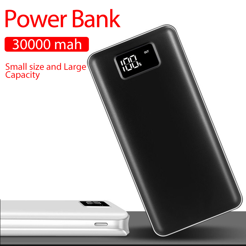 Power Bank 30000mAh For Xiaomi Mi 2 USB PowerBank Portable Charger External Battery Poverbank For iPhone XS Max 8 8plus