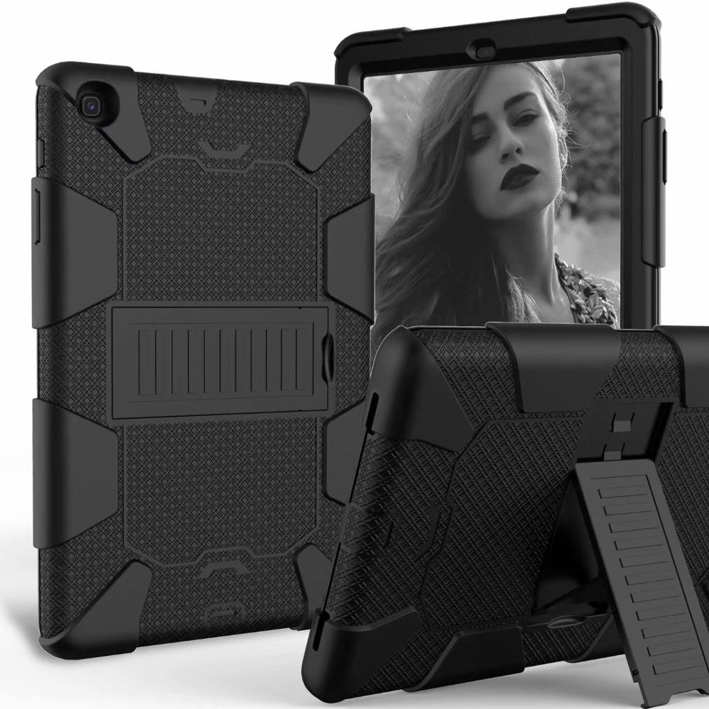 Heavy Duty Shockproof Silicone Armor <font><b>Case</b></font> For Samsung Galaxy Tab A 10.1 2019 SM-<font><b>T510</b></font> SM-T515 Tablet Stand Hard Cover Shell image