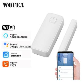 Tuya Smart Wifi Door Sensor Open / Close Detector App Notification Battery Operated Support Alexa Google Home No Need Hub - discount item  38% OFF Security Alarm