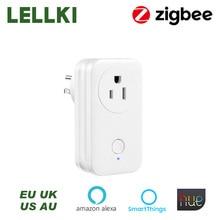 Smart-Switch-Plug Timer Hue LELLKI Zigbee-Socket Voice-Control-Work Alexa US Wireless