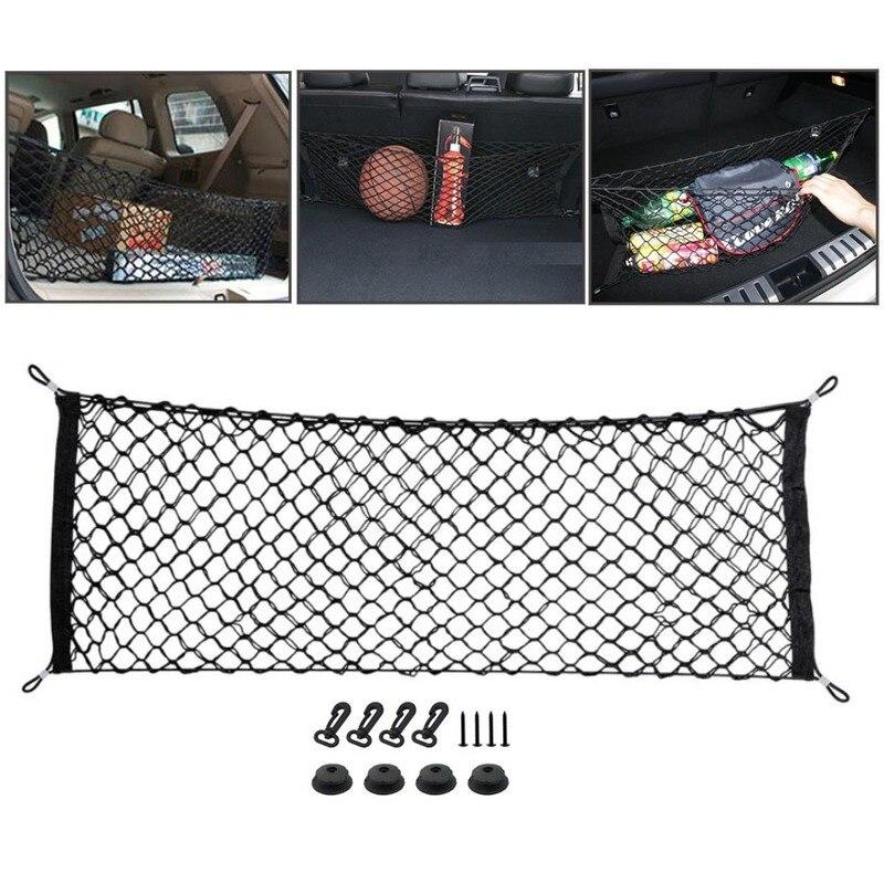 110x50CM Universal Car Rear Trunk Boot Organizer Pocket Cargo Net Mesh Storage Car Receive Arrange Net Car Trunk Net