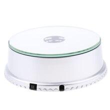 Pantalla reflejada LED Base plato giratorio eléctrico bolsas de teléfonos puesto expositor para cámara teléfono producto Digital