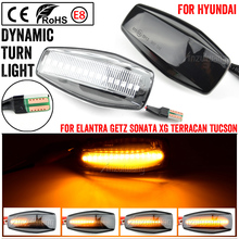 LED แบบไดนามิกด้านข้าง Marker Light Blinker โคมไฟสำหรับ Hyundai Elantra XD I10 Getz Sonata XG Tucson Terracan