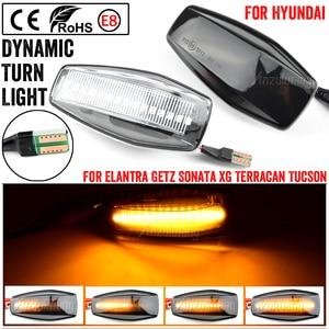 Image 1 - LED แบบไดนามิกด้านข้าง Marker Light Blinker โคมไฟสำหรับ Hyundai Elantra XD I10 Getz Sonata XG Tucson Terracan