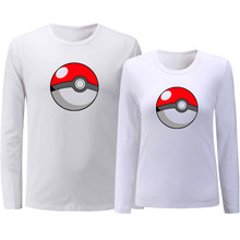 anime Pikachu Pokemon Poke Ball PokeBall Couples T-shirt Mens Womens Graphic Printing Cotton Tee Shirts Tops Valentines Day Gift(China)