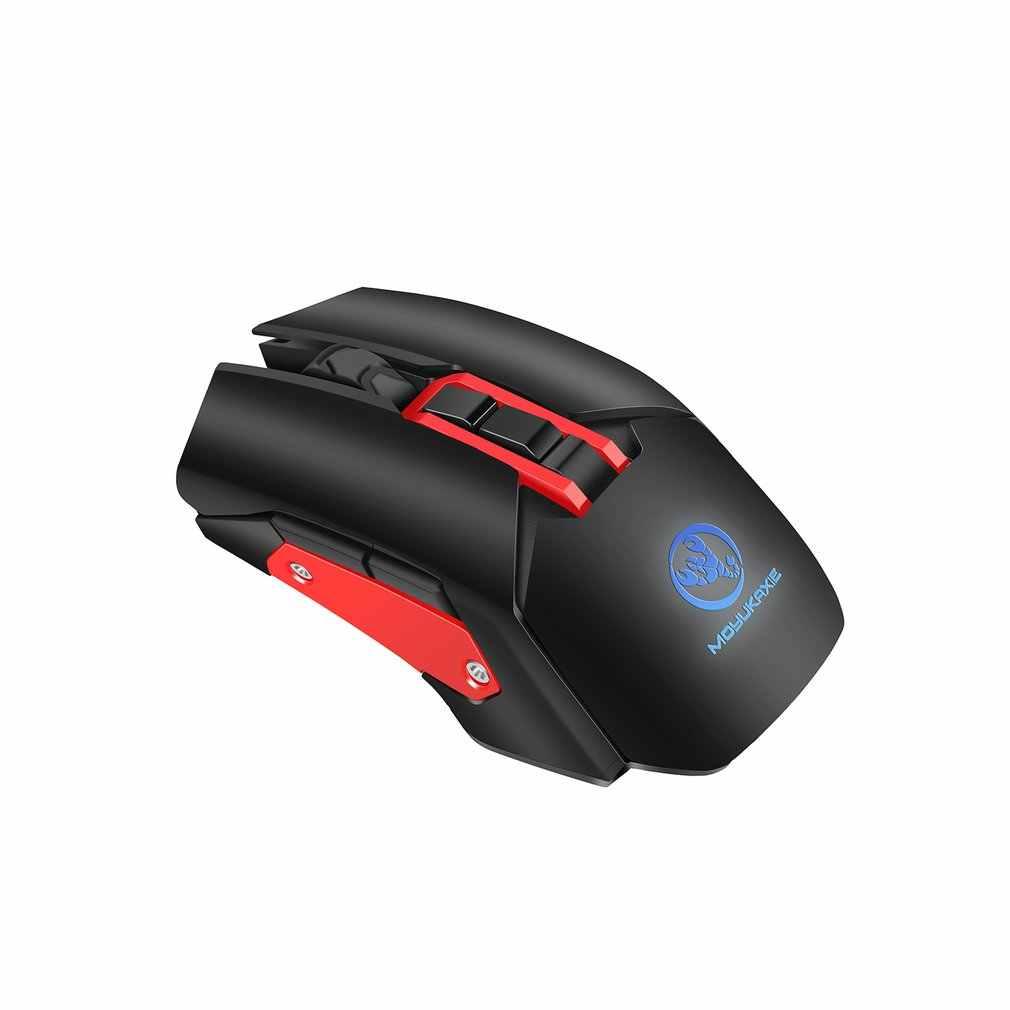 Souris de jeu Rechargeable X80 souris sans fil optique 2.4G pour ordinateur portable Mac et PC 4800 DPI 7 lumière LED respiratoires