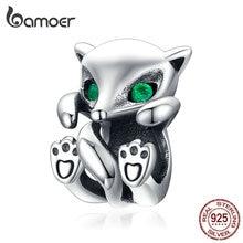 Bamoer Baby Fox Animal металлический Шарм подходит к оригинальному серебряному змеиному браслету 925 пробы Серебряное модное ювелирное изделие SCC1290