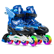 Inline-Skates Light-Up Outdoor Fitness Adjustable Kids Indoor with Wheels for And Adults