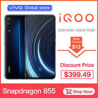 Authorized vivo celular iQOO Mobile Phone 6.41-inch Big screen Android 9 Snapdragon 855 NFC 4000mAh 44W Fast Charge  Cellphone
