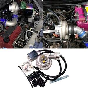 Авто электрический турбо Комплект нагнетателя тяги мотоцикла Электрический турбокомпрессор воздушный фильтр впуска для всех автомобилей ...