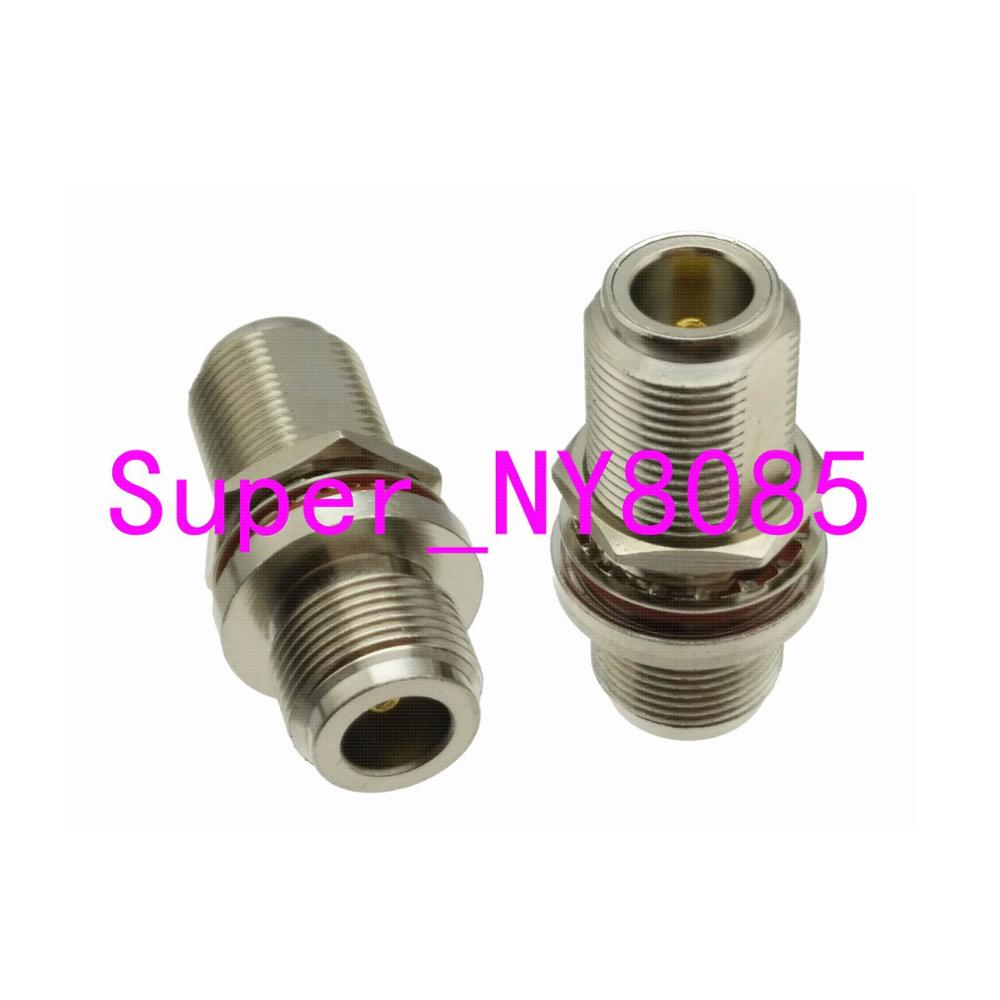 1pce Adapter N Female To N Jack Bulkhead Panel Mount Connector F/F Nickel Plating