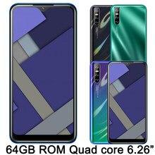 Smartphone Y8p Original, pantalla gota de agua de 6,26 pulgadas, reconocimiento de identificación facial, Android, 4 GB RAM, 64 GB ROM