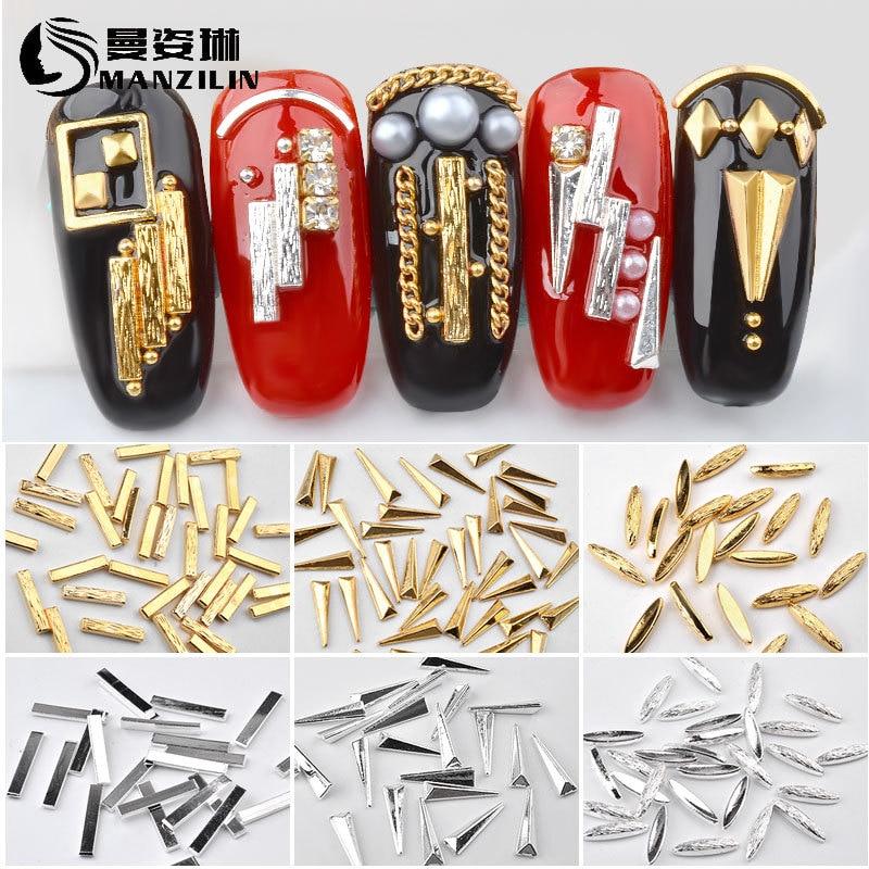 Japanese-style Manicure Fittings Gold Plating Long Daikin Stripes Road Metal Rod Nail Sticker Metal Rivet Shi Pin Tie