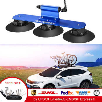 ROCKBROS Car Top Suction Bicycle Rack Quick Installation Bike carrier For Car mount MTB Road Bike porta bicicleta para automovil - DISCOUNT ITEM  37% OFF All Category