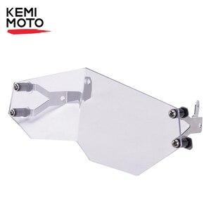 Image 1 - معدات الحماية من المصباح لسيارات BMW F850GS F750GS F 850 GS F 750 GS دراجة نارية المصباح غطاء الشواية بعد السوق الفولاذ المقاوم للصدأ