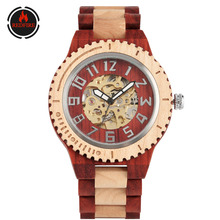 REDFIRE Arabic Numerals Display Golden Skeleton Self-Winding Mechanical