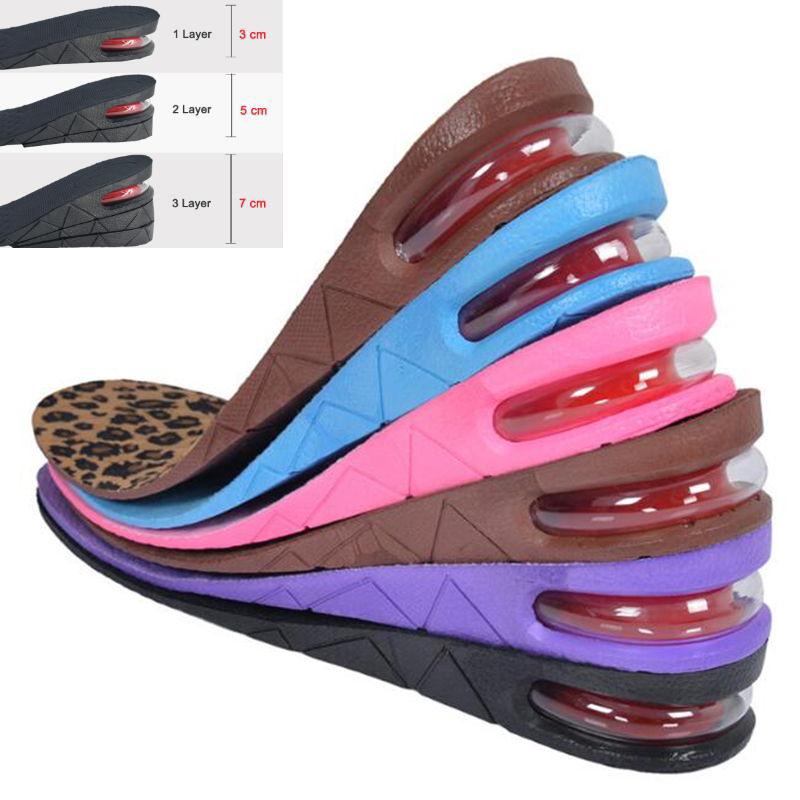 Men Women Shoe Insole Air Cushion Heel insert Increase Tall Height Lift 7cm