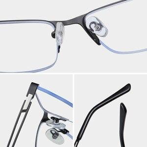 Image 4 - Semi Remless Computer Bril Frame Mannen Optische Recept Brillen Frame Clear Bijziendheid Bril Frame Anti Blauw Licht 2020