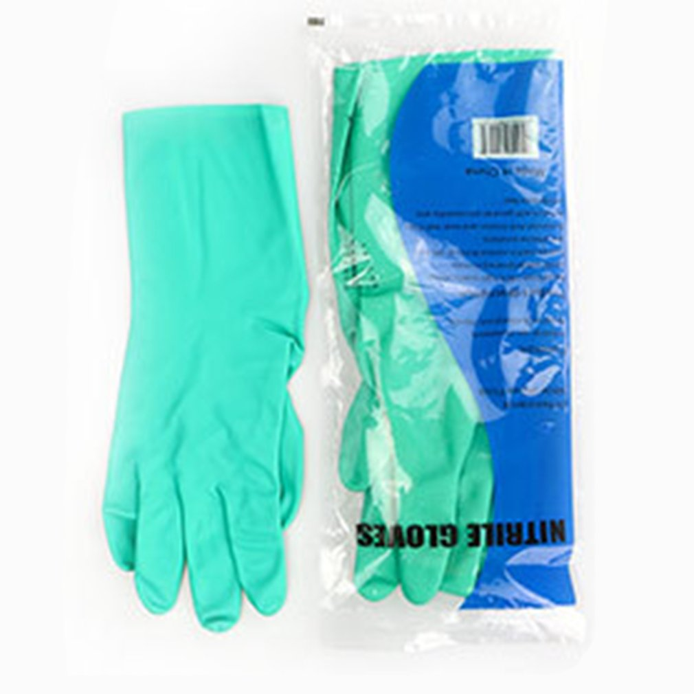 1 Pair 18mill Acid Alkali Resistant Gloves Rubber Waterproof Thicker Chemical Resistance Anti-skid Latex Long Rubber Gloves