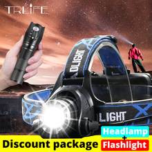 LED Headlamp T6/L2/V6 Head light Zoom headlamps use 2*18650+LED Flashlight Zoom Torch by 18650 battery for Bicycle Light 20000lums led headlight xml v6 l2 t6 zoom led headlamp torch flashlight head lamp use 2 18650 battery for bicycle light get gift