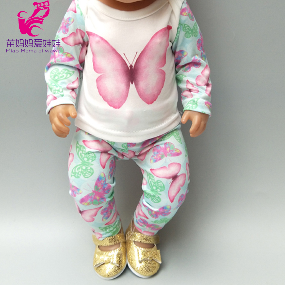doll clothes for 18 inch born baby butterfly pants set 17
