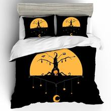 Home Textiles Bed Linen Set Halloween Bedspread Queen King Size Luxury Kid Bedding Set Duvets And Linen Sets Bed Linen Cotton(China)