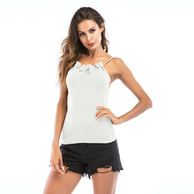 Sexy Bow Slim Camis Tops Women Sleeveless Top Vest White Black Gray Strap Camisole Female Camis Tops Feminino 2019 new sexy women s elastic strap stretch tight lady camis vest tank tops female slim sleeveless camis black white tees