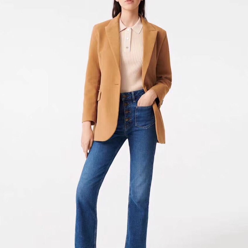 2020 Spring And Summer Temperament British Style Solid Color Women Blazer Coat