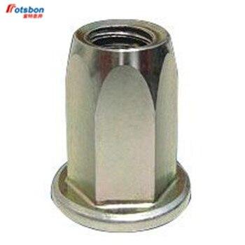 Remache hexagonal avellanado M3/M4/M5/M6/M8/M10/M12, inserción de Tuerca, tuercas hexagonales, inserti Riv, inserción...