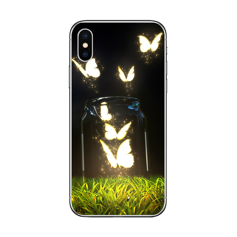 Ciciber butterfly and flowers iphone 11 pro cases for apple iphone 11 pro max x xr xs max 7 8 6 6s plus 5 5s se soft tpu cover fundas