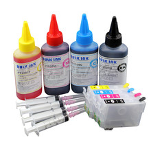 CISSPLAZA 1SET Europe T502XL 502xl Refill Ink Cartridge with + Dye Ink Compatible for Epson XP 5100 5105 WF 2865 2860 printer
