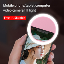 Ring-Light Selfie LED iPhone for Supplementary Enhancing Usb-Charge Xiaomi