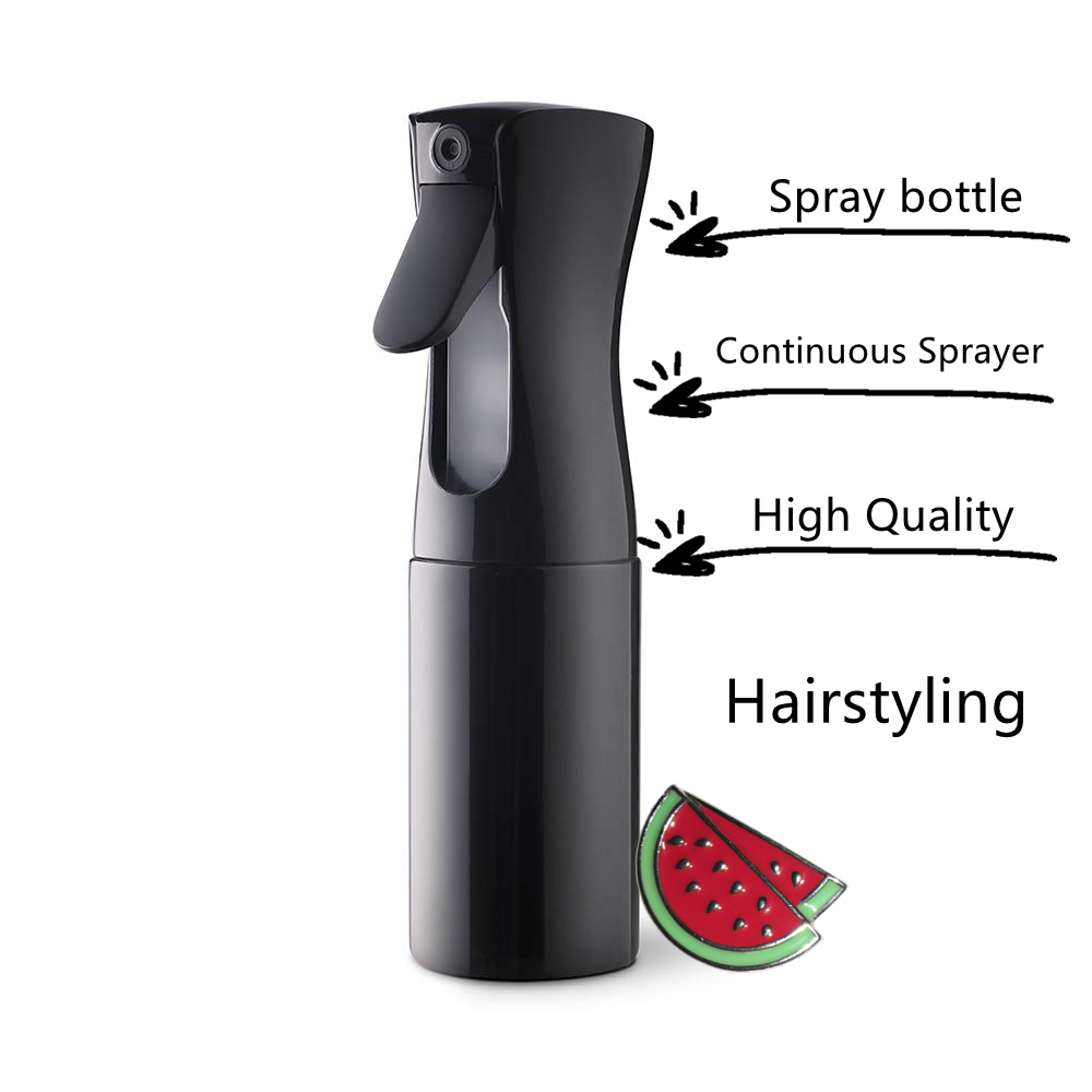 High Quality Continuous Sprayer Hair Water Ultra Fine Mister Spray Bottle Propellant Free for Hairstyling, Misting,Salon