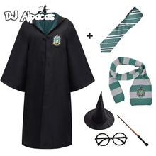 Cosplay Godric kostium Potter naszyjnik szalik krawat magiczna różdżka hermiona mundurek szkolny szata Haloween akcesoria do kostiumów tanie tanio CN (pochodzenie) Cloak Film i TELEWIZJA Unisex Dzieci Zestawy Poter harris Poliester Kostiumy