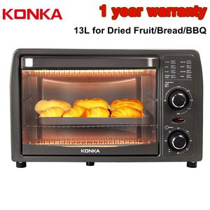 KONKA Electric Oven 13L Multifunctional Household Mini Oven Kitchen Appliances Dried Fruit Bread Snack Maker Small Baking Oven
