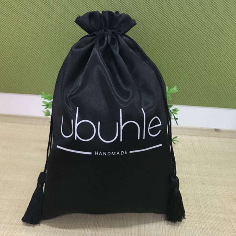 Wholesale Gloss Satin Storage Bag Tassel Drawstring Bag Wedding Banquet / Cosmetics Storage Shoes Clothing Hidden Bag Silk Bag