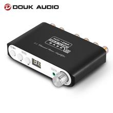Douk אודיו Q100 HiFi 2.1 ערוץ Bluetooth 5.0 דיגיטלי מגבר סטריאו בית אודיו סאב מגבר 80W + 40W * 2