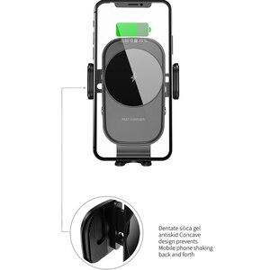 Image 4 - ワイヤレス車の充電器 15 ワットチー充電自動クランプセンサー空気ベント電話ホルダーiphone 11 xs xr × 8 サムスンS20 S10 S9