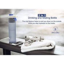 600ml Mist Spray Water Kettle Portable BPA Free Plastic Sports Bottles